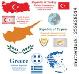 Flags And Maps Of Cyprus Turke...