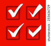 check marks. vector. | Shutterstock .eps vector #253636729