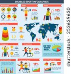 disabled sports infographics... | Shutterstock .eps vector #253639630