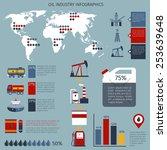 oil industry infographics set... | Shutterstock .eps vector #253639648