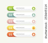 vector progress banners with... | Shutterstock .eps vector #253645114