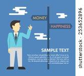 flat vector illustration. man... | Shutterstock .eps vector #253652896