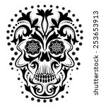 illustration of a skull. | Shutterstock .eps vector #253653913