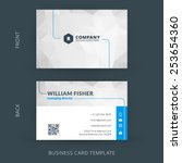Vector modern creative and clean business card template. Flat design | Shutterstock vector #253654360