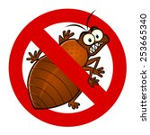 anti parasite sign with a funny ... | Shutterstock .eps vector #253665340