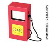 3d rendering of an oil pump on... | Shutterstock . vector #253666099