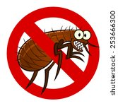 anti parasite sign with a funny ... | Shutterstock .eps vector #253666300