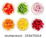 Assortment Of Cut Vegetables I...