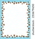 Dog Paw Prints Border   Frame...