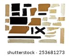 collection of different tape... | Shutterstock . vector #253681273