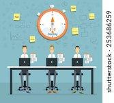people business working... | Shutterstock .eps vector #253686259