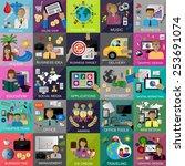 flat icons set for  web design  ... | Shutterstock .eps vector #253691074
