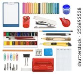 the set of a stationery ... | Shutterstock . vector #253693528