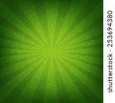 Green Sunburst Poster With...