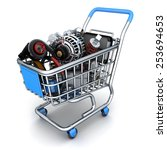many auto parts  done in 3d  | Shutterstock . vector #253694653