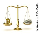 classic scales of justice with... | Shutterstock . vector #253695490
