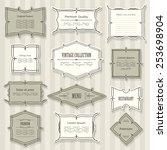 vintage frame set. calligraphic ... | Shutterstock .eps vector #253698904