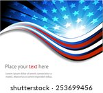 abstract image of the american... | Shutterstock .eps vector #253699456