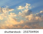sky with clouds and sun | Shutterstock . vector #253704904