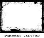 grunge frame. vector...   Shutterstock .eps vector #253714450