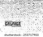 vector brick wall texture | Shutterstock .eps vector #253717903
