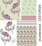 seamless floral rose patterns.  ... | Shutterstock .eps vector #253719034