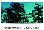 low polygon background picture. | Shutterstock .eps vector #253724554