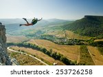 Base Jumper Jumps From The...