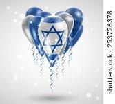 flag of israel on air balls in...   Shutterstock .eps vector #253726378