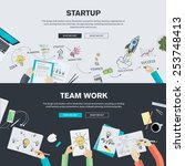 set of flat design illustration ... | Shutterstock .eps vector #253748413