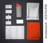mockup fitness elements.... | Shutterstock . vector #253751998