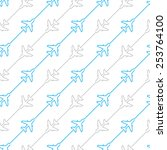 seamless airplane lines | Shutterstock .eps vector #253764100