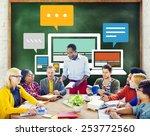 responsive design internet... | Shutterstock . vector #253772560
