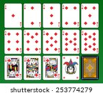 playing cards  diamonds suite ... | Shutterstock .eps vector #253774279