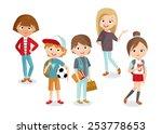 pupils boys and girls | Shutterstock .eps vector #253778653