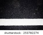 white line on the road texture...   Shutterstock . vector #253782274