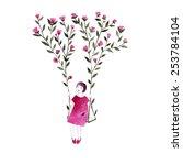 Spring Girl   Illustration....