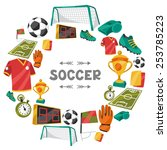 sports background with soccer... | Shutterstock .eps vector #253785223