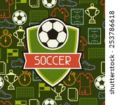 sports seamless pattern with... | Shutterstock .eps vector #253786618