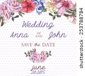 wedding invitation card with... | Shutterstock .eps vector #253788784