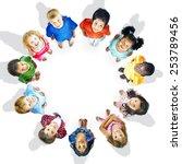 diversity innocence children... | Shutterstock . vector #253789456