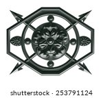 a decorative element in the... | Shutterstock . vector #253791124