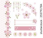set of sakura flower design | Shutterstock .eps vector #253791784