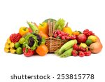 composition of fruits and... | Shutterstock . vector #253815778