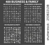 400 business  family  holidays  ... | Shutterstock .eps vector #253822138