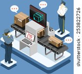 isometric infographic security...   Shutterstock .eps vector #253822726