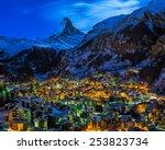 Aerial View On Zermatt Valley...