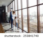 charming family spends time in... | Shutterstock . vector #253841740