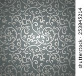 vintage seamless pattern with... | Shutterstock .eps vector #253845214