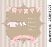 baby girl  baby shower... | Shutterstock .eps vector #253848208